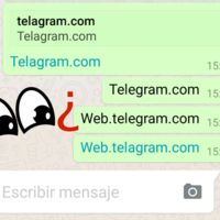 WhatsApp censura la previsualización y enlace de URLs que contienen la palabra Telegram