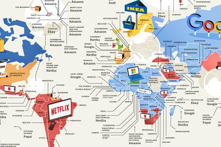 Amazon, Netflix, eBay: las marcas de consumo más populares en cada país del mundo, en un mapa
