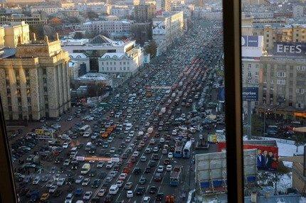 El tráfico de Moscú