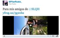 Pilar Rubio da el pésame a SLQH de lado