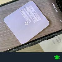 Cómo digitalizar una nota escrita a mano con el móvil y Google Lens y enviarla al ordenador