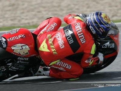 Lorenzo primero en la parrilla de 250 en Jerez