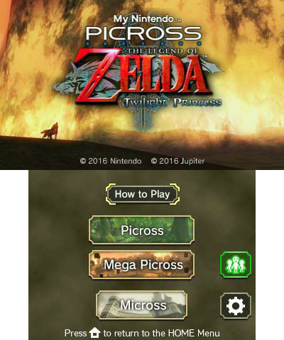 Zelda Twilight Princess My Nintendo Picross