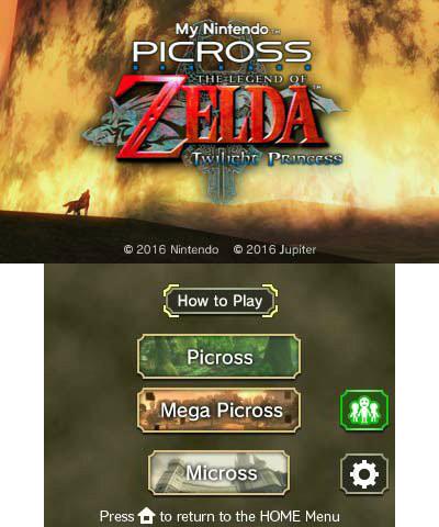 Zelda Twilight Princess My Nintendo Picross