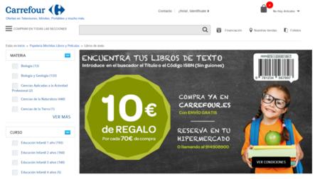 Carrefour también ha habilitado su propia página de reservas de libros de  texto 69b2253af0be9
