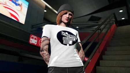 Gta Online Camiseta Vinewood Boulevard Radio