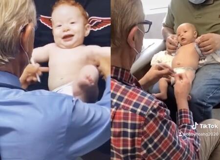 El doctor Gerba nos demuestra que es posible poner una inyección a un bebé y lograr que no deje de sonreír