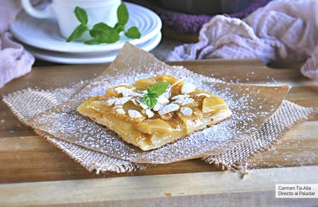 Tarta ultrafina de manzana y vainilla: receta fácil y rápida