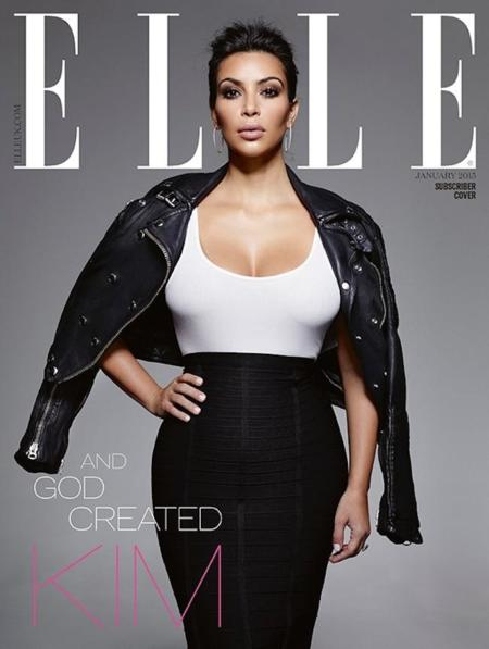 Kim Kardashian Elle Uk January 2015 1