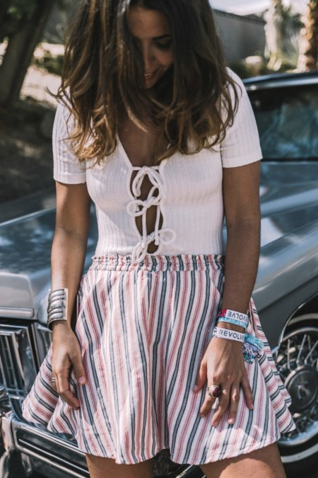 Lace Up Body Privacy Please Revolve Clothing Striped Mini Skirt Soludos Espadrilles Palm Springs Outfit Collage Vintage 9 1090x1635