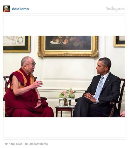 El Dalái Lama se une también a Instagram, y ya tiene… ¡¡30.000 seguidores!!