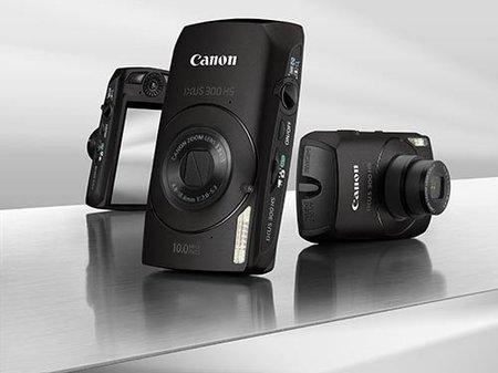 Canon IXUS 300 HS, con sensor retroiluminado y controles manuales