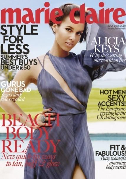 Alicia Keys, más a gusto consigo misma que en brazos para Marie Claire