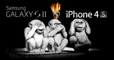Samsung Galaxy S II vs Apple iPhone 4S, lucha de titanes