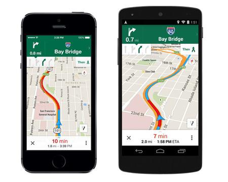 Google Maps actualiza sus aplicaciones para móviles con un montón de novedades