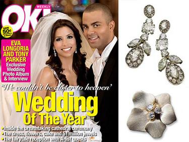 Las joyas que lució Eva Longoria en su boda