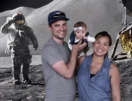 Harper con sus padres