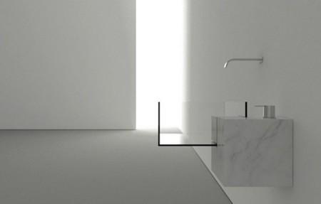 Un lavabo minimalista, casi invisible, para tu baño