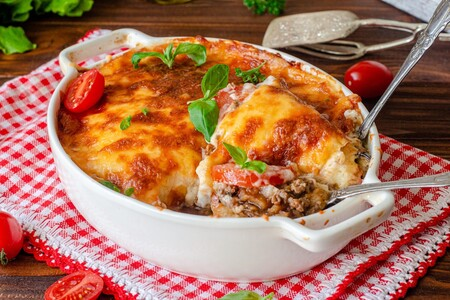 Musaka: comida tradicional griega tipo lasaña pero sin carbohidratos. Receta fácil