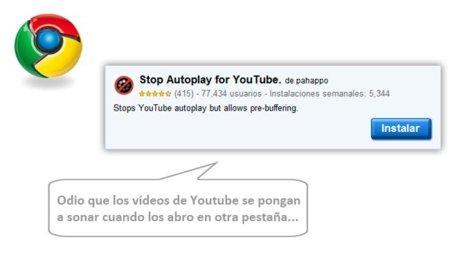 """Stop Autoplay for Youtube, extensión para Chrome ideal para ver vídeos """"troceados"""""""