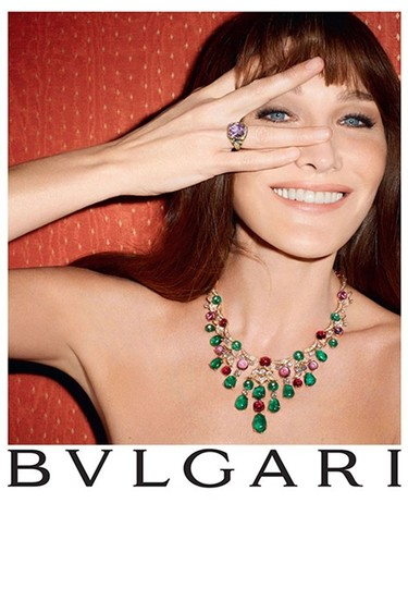 Carla Bruni es la nueva diva Bulgari, el lujo busca la madurez asentada