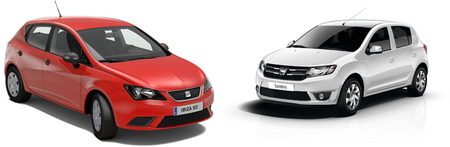 SEAT Ibiza y Dacia Sandero