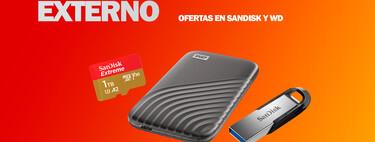 Ofertas de almacenamiento en tarjetas Micro SD, memorias flash USB, unidades SSD externas y más en Amazon de SanDisk y WD