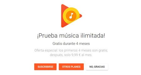 Google Play Music regala cuatro meses de música ilimitada a los nuevos suscriptores