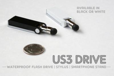 US3 Drive: pendrive resistente al agua, stylus y soporte para smartphones