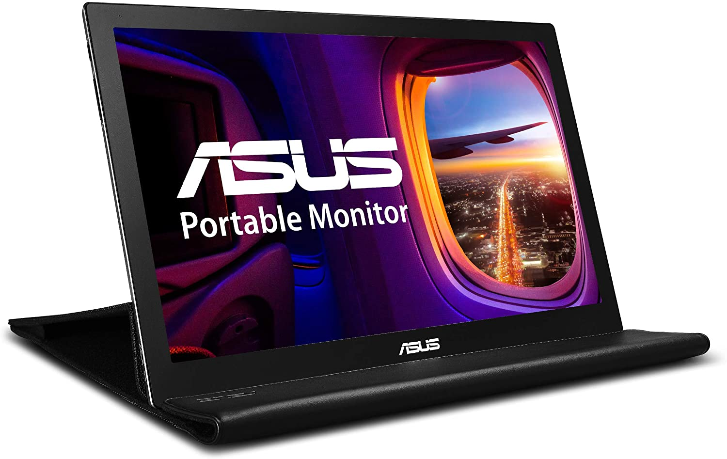 "ASUS MB169B+ - Monitor portátil ultrafino Full HD de 15.6"" (1920x1080 Pixeles, Panel IPS, USB 3.0, ASUS Smart Case incluida, 16:9, grosor 8.5mm, Tecnología EzLink) Negro y Plata"