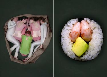 La danza del sushi humano