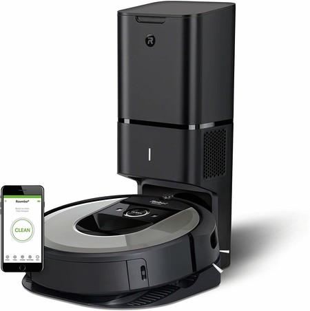 Oferta de Amazon en el robot aspirador Roomba i7+ que limpia su depósito automáticamente: ahora cuesta 876,92 euros con envío gratis