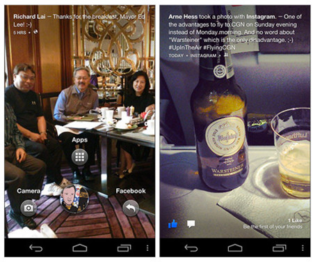 Aparece una beta de Facebook Home, puede ser instalada en Nexus 4