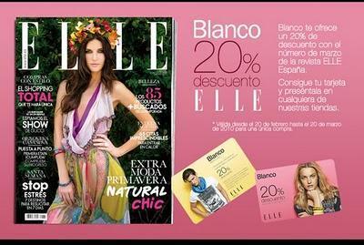 La revista Elle te regala un descuento para las tiendas Blanco