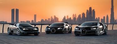 Bugatti nos brinda un festín de millones de dólares y 3,000 hp reuniendo a sus deportivos más célebres