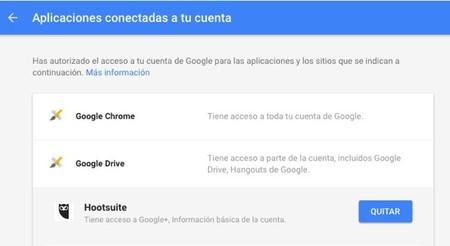 Aplicaciones Autorizadas Google