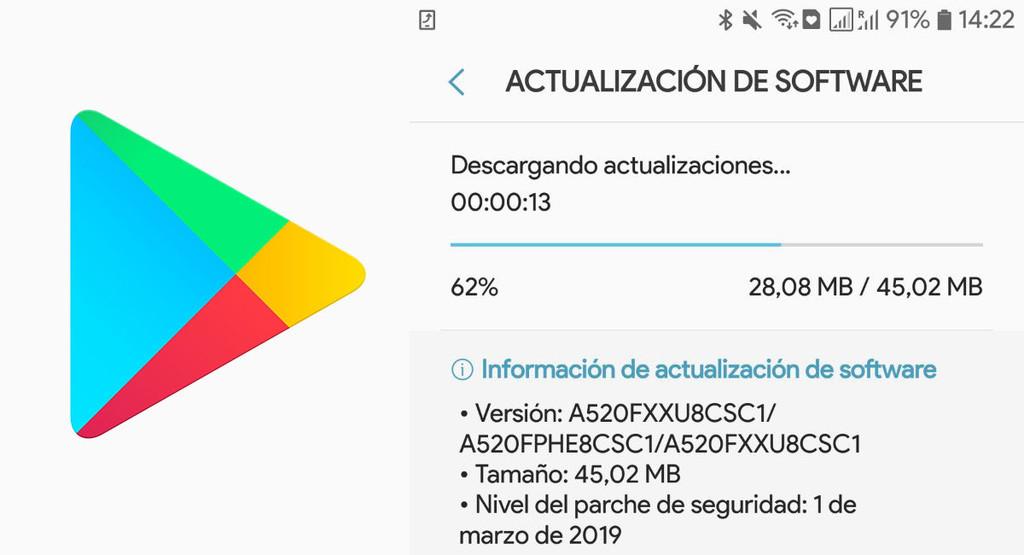 Google Play descargaría además actualizaciones de Android, según indicios hallados en su APK