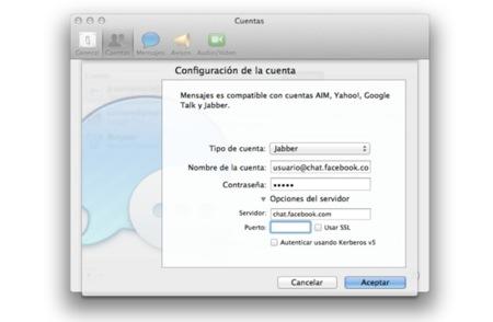 Cómo configurar el chat de Facebook en Mensajes