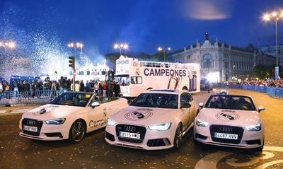 Audi celebra a lo campeón con el Real Madrid