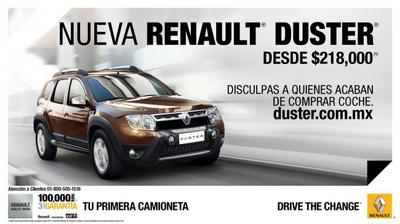 Premian a Renault por campaña de Duster