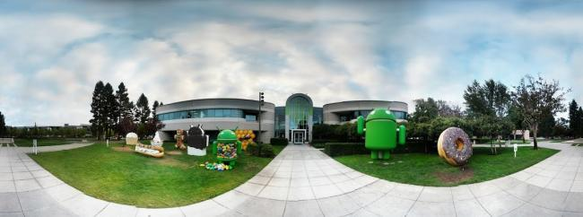 Photo Sphere of Android Hall