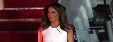 Melania Trump llega a Miami con uno de sus looks más veraniegos de las últimas semanas