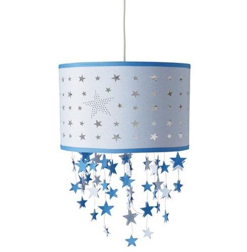 L mpara con estrellas colgantes para un dormitorio infantil - Lampara de techo infantil ...