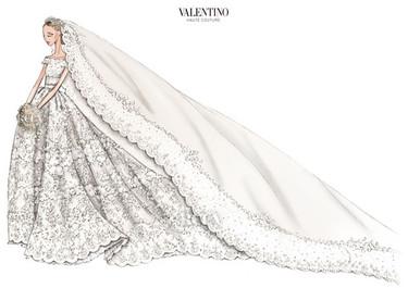 Todos los detalles del vestido que Valentino ha diseñado para Magdalena de Suecia