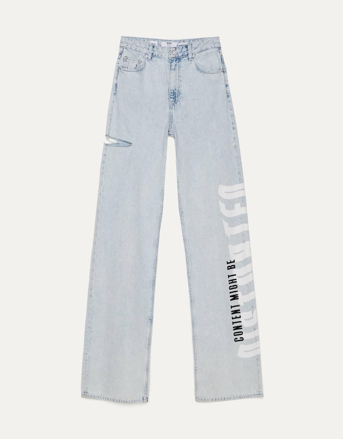 Jeans Straight UV React.