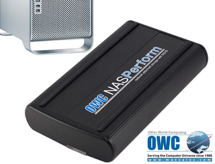 OWC NasPerform, conectividad Ethernet y USB