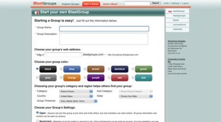 Blastgroups, nuevo lugar para crear el espacio web para grupos de usuarios