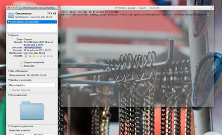 Modifica en OS X el lugar donde se almacenan por defecto las capturas de pantalla y su formato de fichero