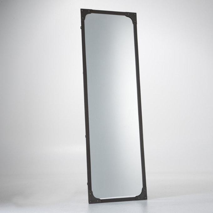 Espejo de metal de tamaño XL y de estilo industrial