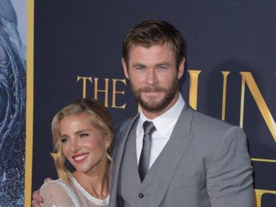 Chris Hemsworth y Elsa Pataky divinérrimos en el estreno de 'El cazador y la reina del hielo'
